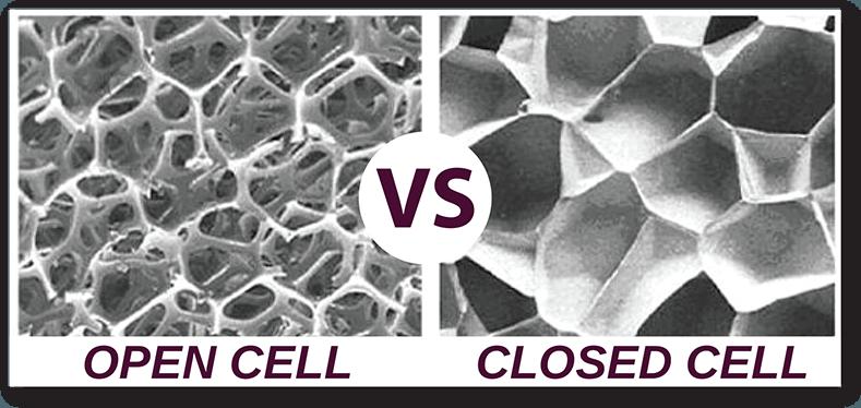 closed cell vs open cell foam