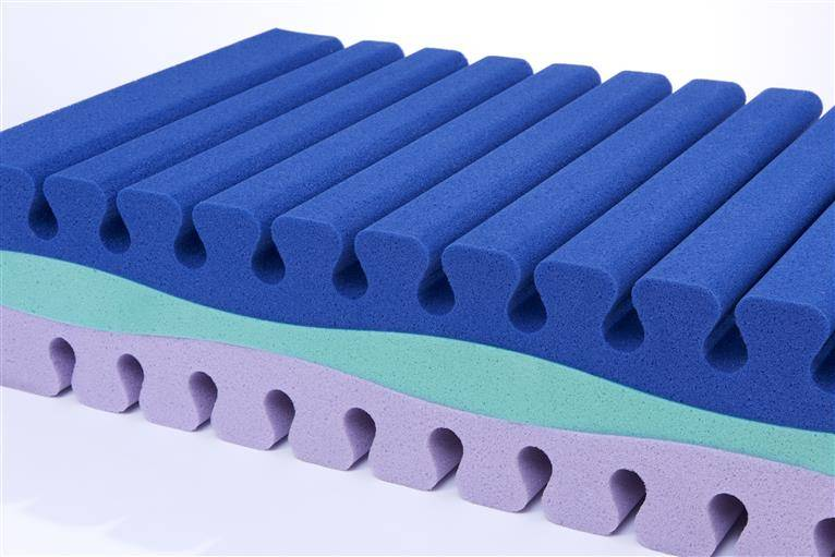 Antimicrobial Polyurethane Foam in Blue